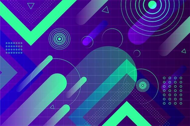 Abstrakter hintergrund mit futuristischen elementen