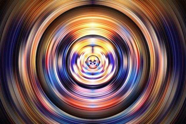 Abstrakter hintergrund mit gekrümmtem welligem holographischem effektdesign