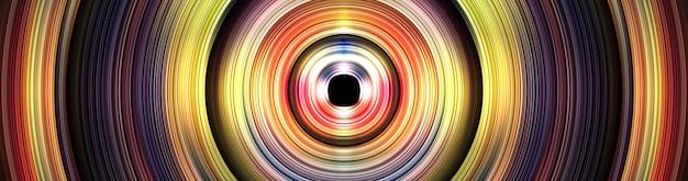 Abstrakter hintergrund mit gekrümmter linie und holographischem effektdesign