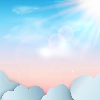 Abstrakter hintergrund mit geometrischen 3d himmelpodesten der blauen farbe.