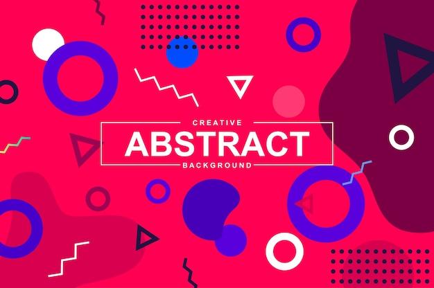 Abstrakter hintergrund mit geometrischen formen im memphis-stil.
