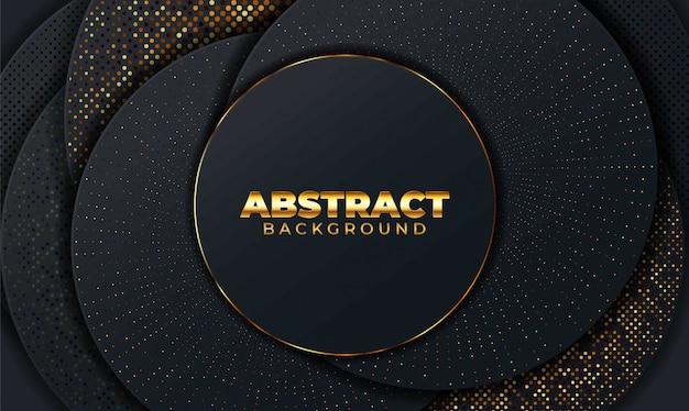 Abstrakter hintergrund mit geometrischen formen. schwarzer abstrakter hintergrund mit geometrischen papierformen. illustration