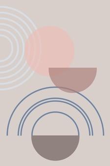 Abstrakter hintergrund mit geometrischen formen und linien