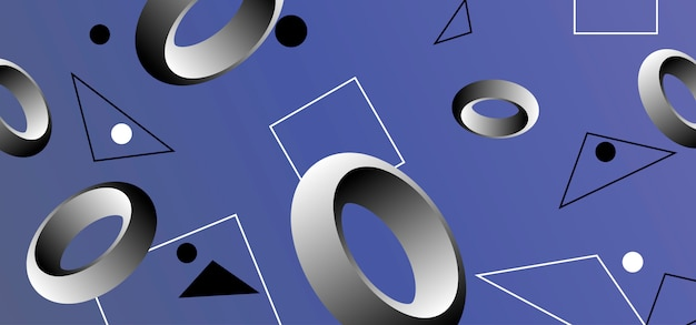 Abstrakter hintergrund mit geometrischen formen.