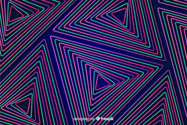 Abstrakter hintergrund mit geometrischen neonformen