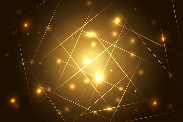 Abstrakter hintergrund mit glänzenden streifen. abstrakter hintergrund mit leuchtenden magischen lichtern und leuchtenden futuristischen linien im dunklen raum. illustration. buntes design.