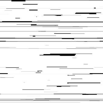 Abstrakter hintergrund mit glitch-effekt-verzerrung nahtlose textur zufällige schwarze und weiße linien