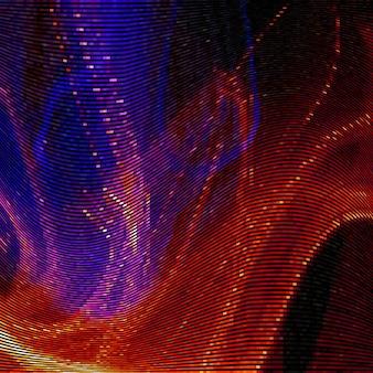 Abstrakter hintergrund mit glitch-effekt verzerrung textur zufällige horizontale farblinien