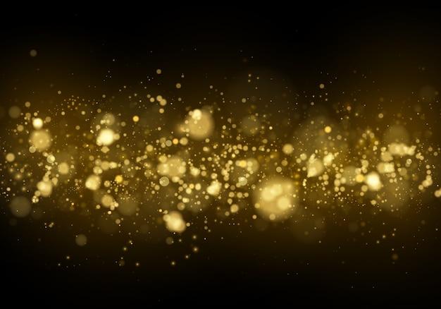 Abstrakter hintergrund mit gold-bokeh-effekt.