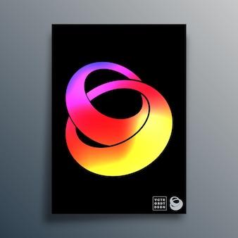 Abstrakter hintergrund mit gradiententextur verknüpfte ringe design für poster, flyer, broschürencover, typografie oder andere druckprodukte. vektor-illustration.