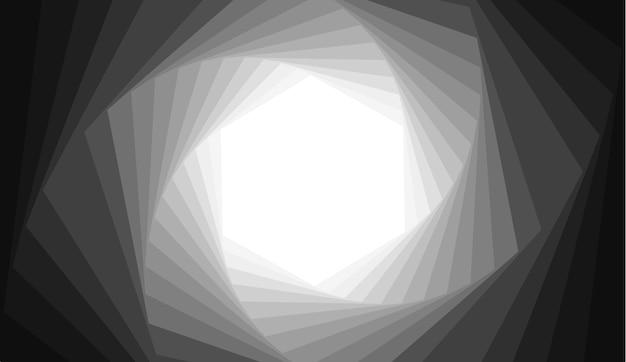 Abstrakter hintergrund mit gray hexagon-spiralenform.