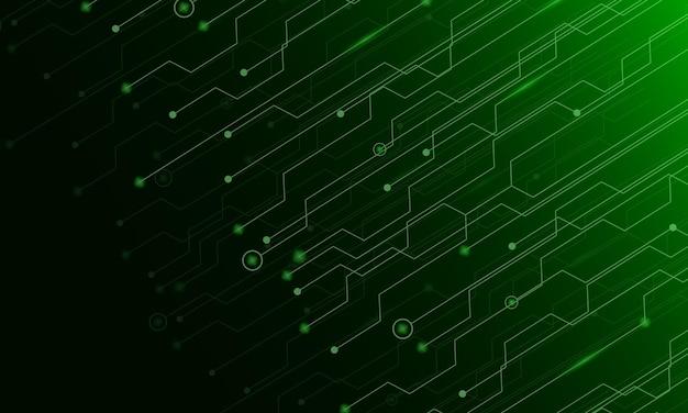 Abstrakter hintergrund mit grünem technologiestruktur-schaltungscomputer
