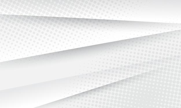Abstrakter hintergrund mit halbtonpunkten. grau und weiß