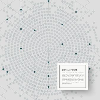 Abstrakter hintergrund mit hexagonmuster und -punkten