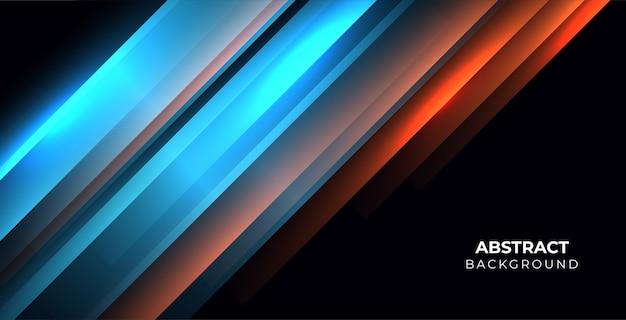 Abstrakter hintergrund mit leuchtendem streifenstil
