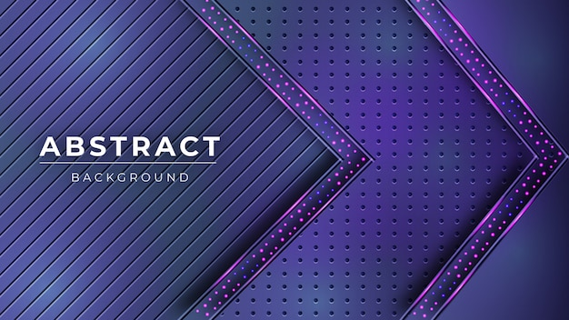 Abstrakter hintergrund mit lila und dunkelblauen diagonalen linien