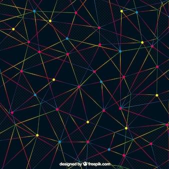 Abstrakter hintergrund mit linien und punkten