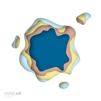 Abstrakter hintergrund mit mehrfarbigen papierschnittformen