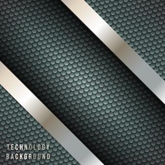 Abstrakter hintergrund mit metallischen diagonalen streifen