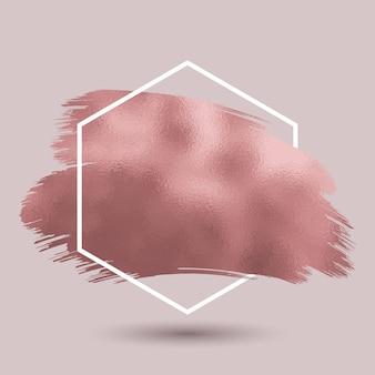 Abstrakter hintergrund mit metallischer roségoldbeschaffenheit