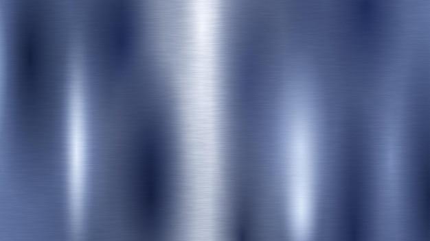Abstrakter hintergrund mit metallstruktur in blauer farbe