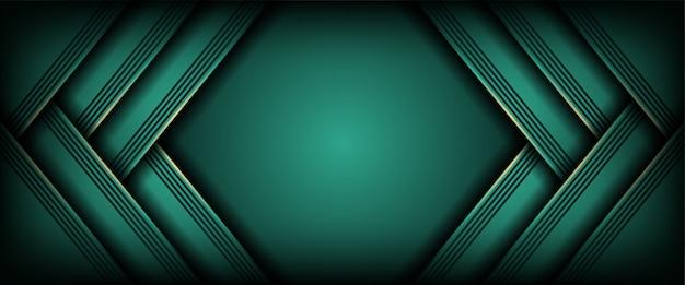 Abstrakter hintergrund mit moderner dunkelgrüner form