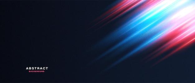 Abstrakter hintergrund mit neonlichteffekt der bewegung