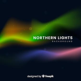Abstrakter hintergrund mit nordlichtern
