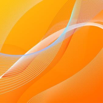 Abstrakter hintergrund mit orange und blauen linien
