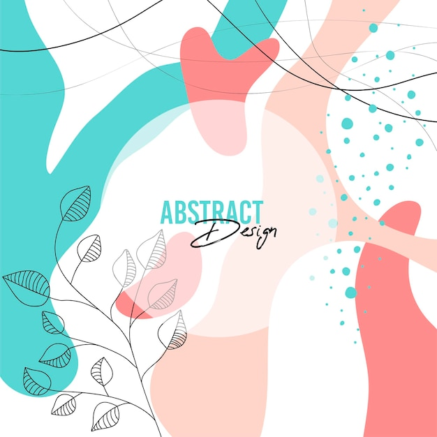 Abstrakter hintergrund mit organischem spritzen in den pastellfarben. moderne designvorlage im minimalistischen stil.