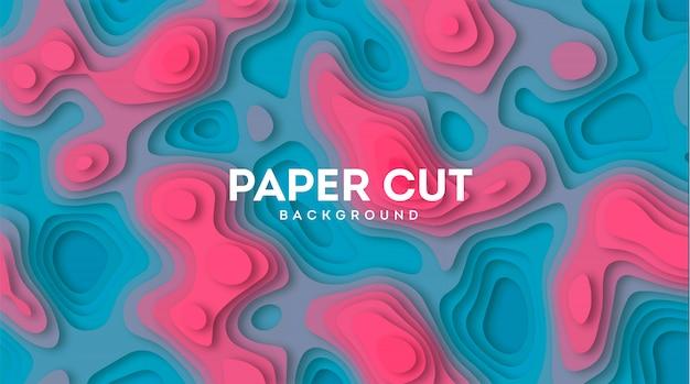 Abstrakter hintergrund mit papier herausgeschnittenen schichten. vektor-illustration material design. papier schneiden textur