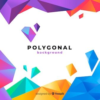 Abstrakter hintergrund mit polygonalen formen