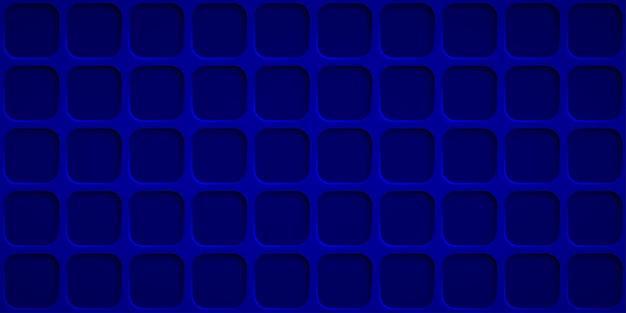 Abstrakter hintergrund mit quadratlöchern in blauen farben