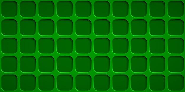 Abstrakter hintergrund mit quadratlöchern in den grünen farben