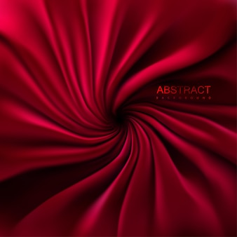 Abstrakter hintergrund mit rotem verwirbeltem textil