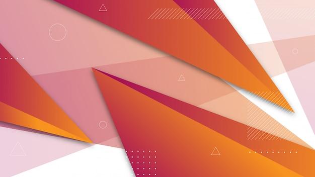 Abstrakter hintergrund mit schattierten dreieckelementen.