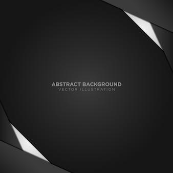 Abstrakter hintergrund mit schwarzen und silbernen details