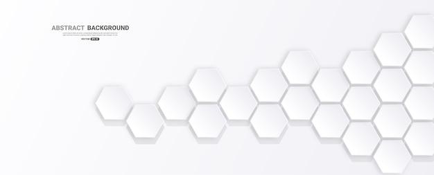 Abstrakter hintergrund mit sechseckform.