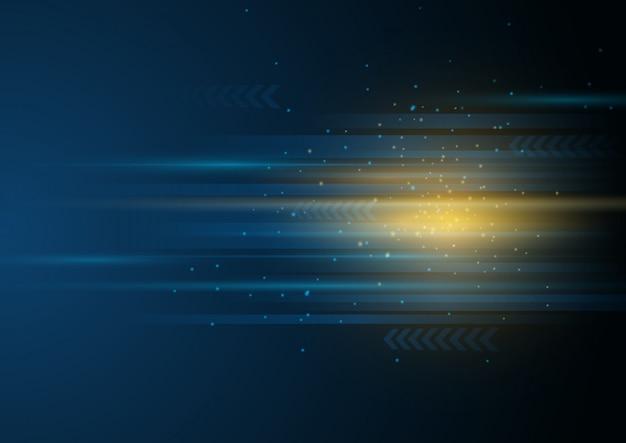 Abstrakter hintergrund mit technologie hochgeschwindigkeitskonzept.