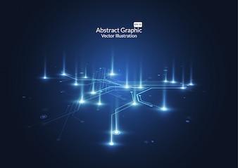 Abstrakter Hintergrund mit Technologieleiterplattebeschaffenheit