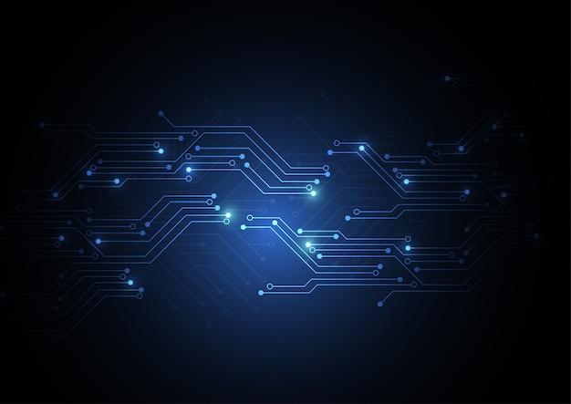 Abstrakter hintergrund mit technologieleiterplattenbeschaffenheit