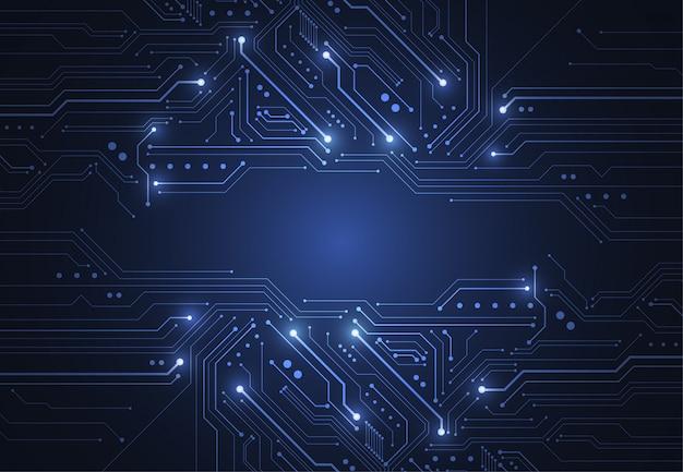 Abstrakter hintergrund mit technologieplatinenbeschaffenheit