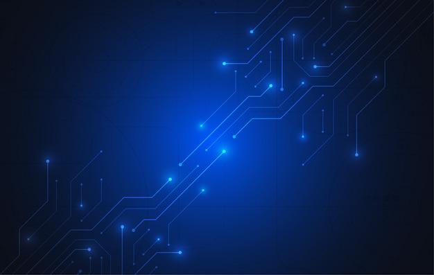 Abstrakter hintergrund mit technologieplatinenbeschaffenheit Premium Vektoren