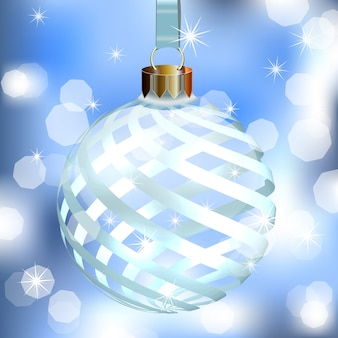 Abstrakter hintergrund mit weihnachtsbaumball.
