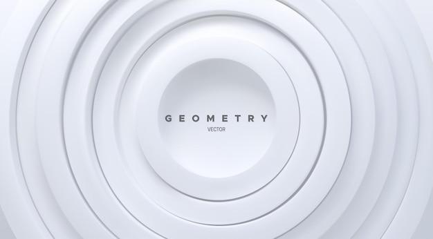 Abstrakter hintergrund mit weißen konzentrischen ringformen