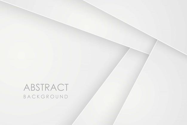 Abstrakter hintergrund mit weißen papierschichten. geometrische darstellung der überlappung. grafisches element. minimales design. dekoration für die geschäftspräsentation