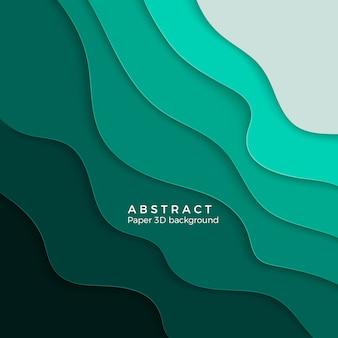 Abstrakter hintergrund mit weißen papierschnittformen. layout für geschäftspräsentationen, flyer, poster. illustration