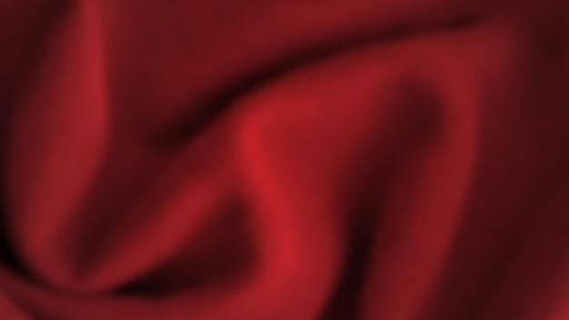 Abstrakter hintergrund mit zerknittertem tuch. dunkelrote realistische seidenstruktur mit leerem raum. vektor-illustration