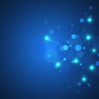 Abstrakter hintergrund molekularer strukturen