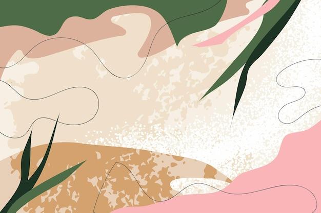 Abstrakter hintergrund natur trendige universelle künstlerische pastellvorlagen